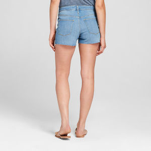 Universal Thread Midi Shorts Raw Hem High Rise